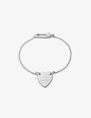 GUCCI Trademark silver charm bracelet