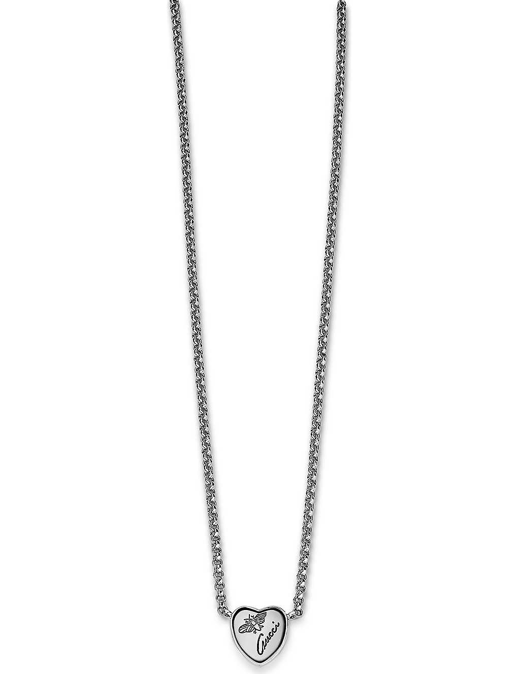 3b3bcc857 GUCCI - Flora sterling silver heart necklace | Selfridges.com