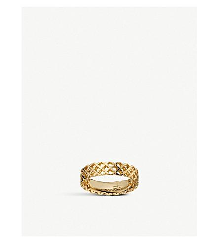 GUCCI Motif 18ct yellow gold ring