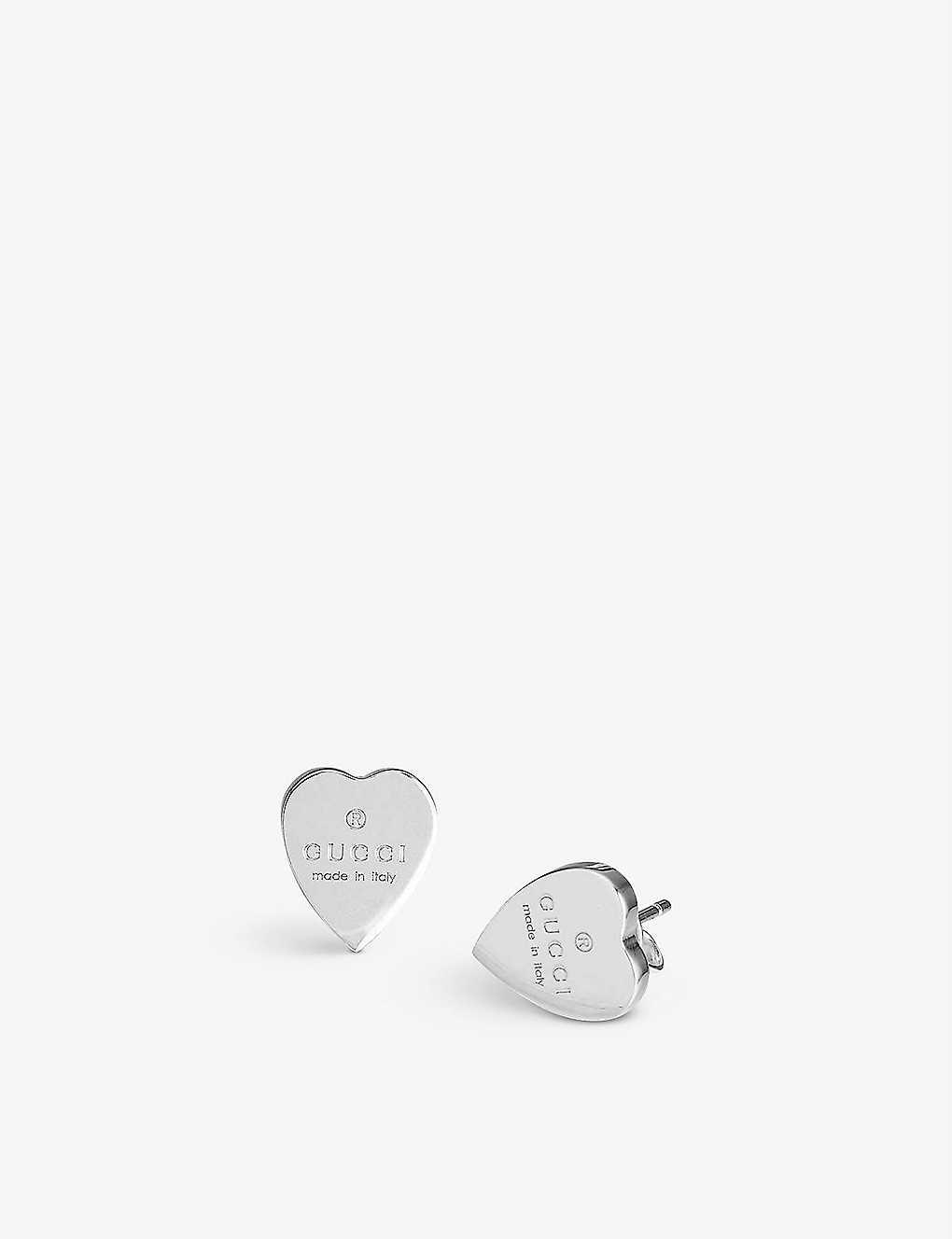 b3e32c36d03 ... Trademark earrings heart-motif sterling silver stud earrings - Silver  ...