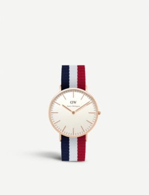 DANIEL WELLINGTON Classic Cambridge stainless steel watch 40mm