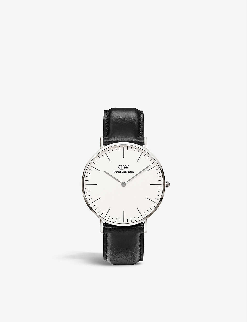 Daniel Wellington Classic Sheffield Stainless Steel Watch 40mm In White
