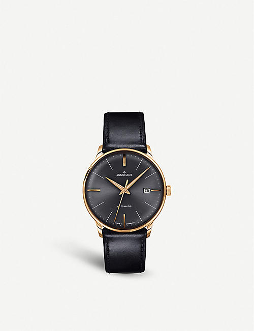 JUNGHANS 027/7513.00 Meister Classic stainless-steel and leather automatic watch