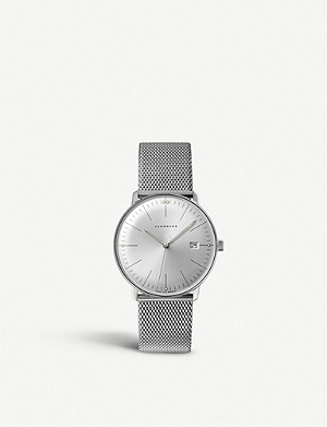 JUNGHANS 041/4463.44 Max Bill stainless steel watch