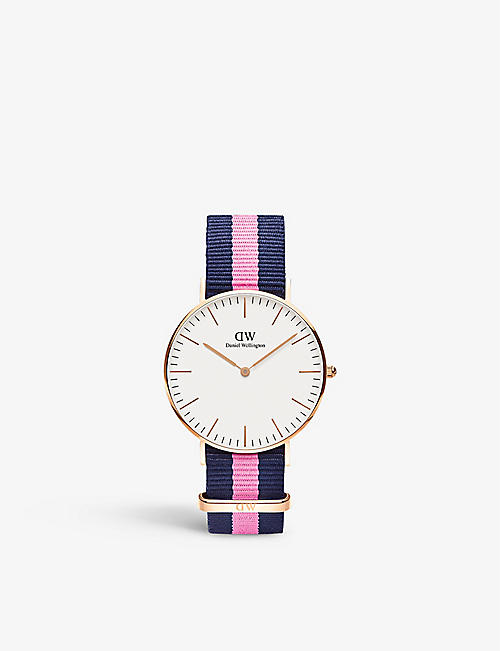 DANIEL WELLINGTON: Classic Canterbury stainless steel watch 36mm