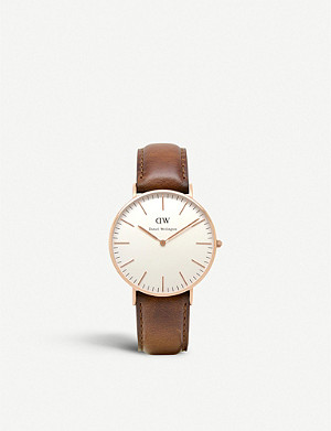 DANIEL WELLINGTON Classic St. Mawes stainless steel watch 36mm