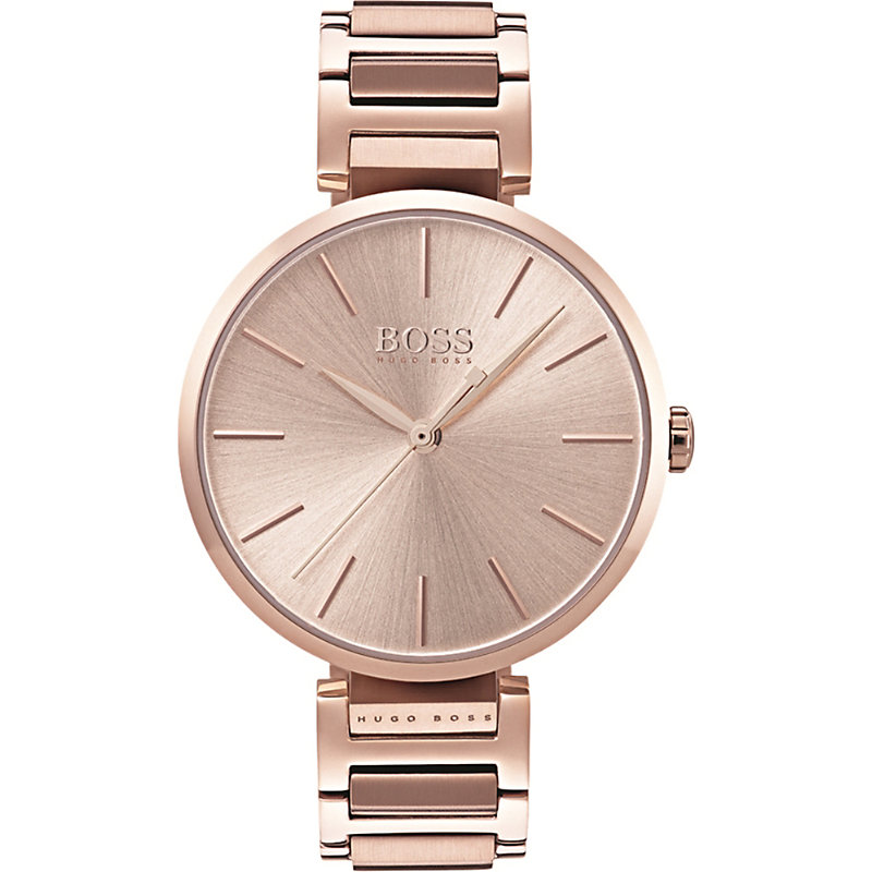 HUGO BOSS | 1502418 Allusion Rose Gold-Toned Stainless Steel Watch | Goxip