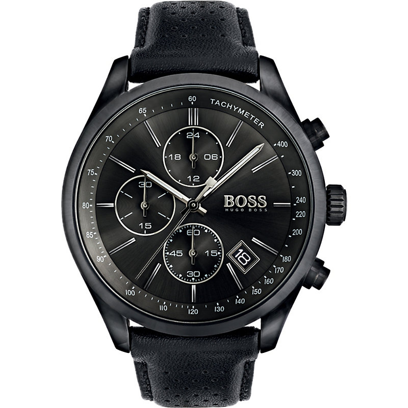 HUGO BOSS | Hugo Boss 1513474 Grand Prix Ion-Plated Steel Watch, Mens | Goxip