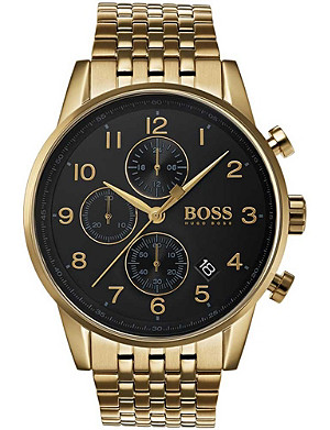 BOSS 1513531 Navigator PVD gold-plated chronograph watch