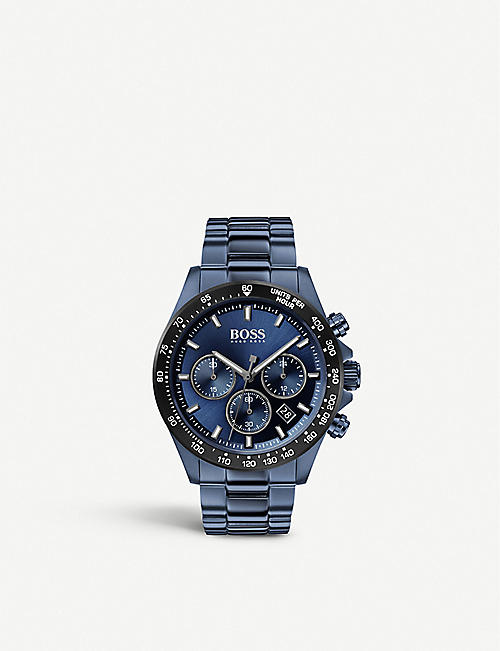 BOSS 1513758 Hero Sport Lux blue ion-plated stainless steel watch