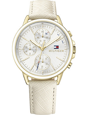 TOMMY HILFIGER 1781790 Chronograph stainless steel and leather watch