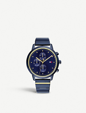 TOMMY HILFIGER 1781893 Blake ion-plated blue steel watch