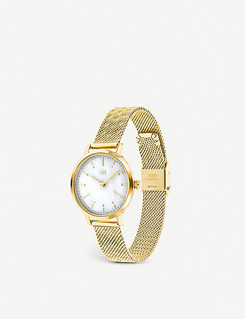 TOMMY HILFIGER Lily stainless-steel and mother-of-pearl quartz watch