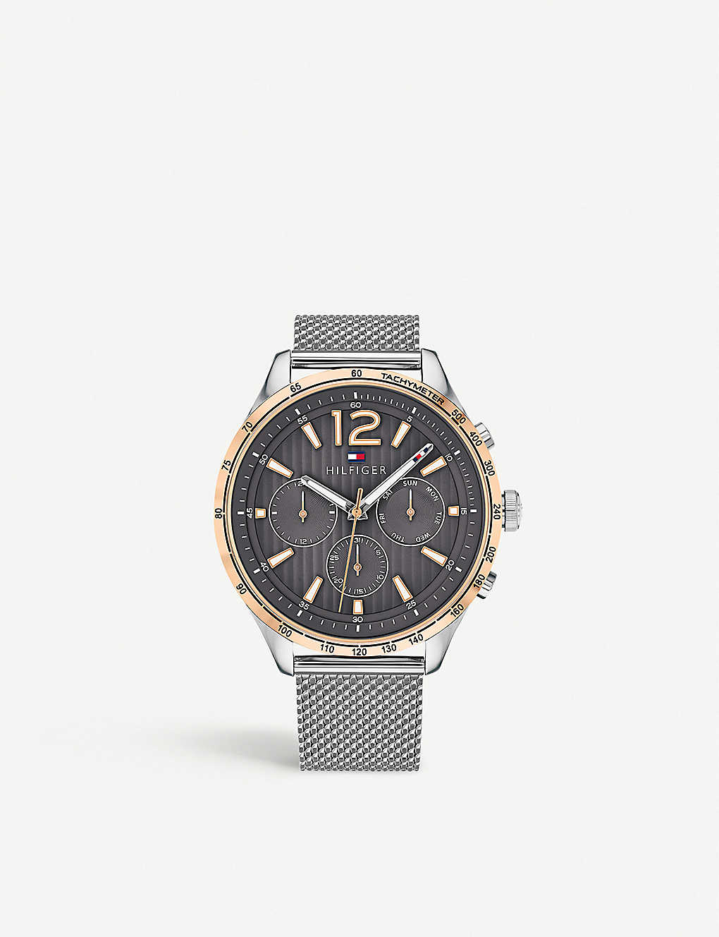 f0953c7e TOMMY HILFIGER - 1791466 Gavin stainless steel and rose-gold plated ...