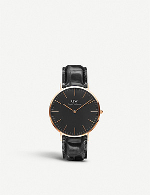 DANIEL WELLINGTON Classic York rose gold watch