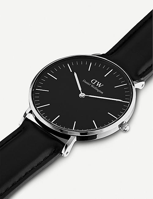 DANIEL WELLINGTON Classic Sheffied 36mm leather and stainless steel watch