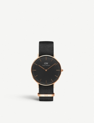 DANIEL WELLINGTON Classic Cornwall 36mm rose-gold watch