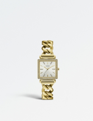 GUESS W1030L2 Vanity PVD gold-plated watch