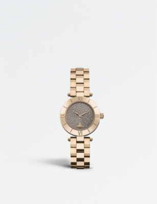 VIVIENNE WESTWOOD VV092CHRS Westbourne PVD rose-gold plated watch