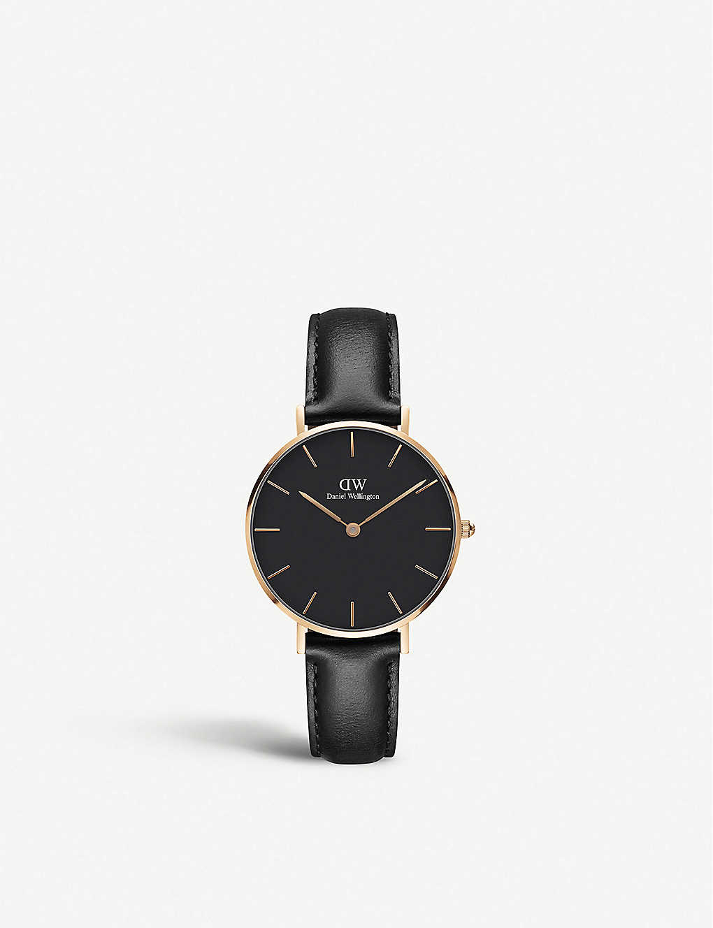 DANIEL WELLINGTON: Classic Petite Sheffield rose-gold and leather strap quartz watch
