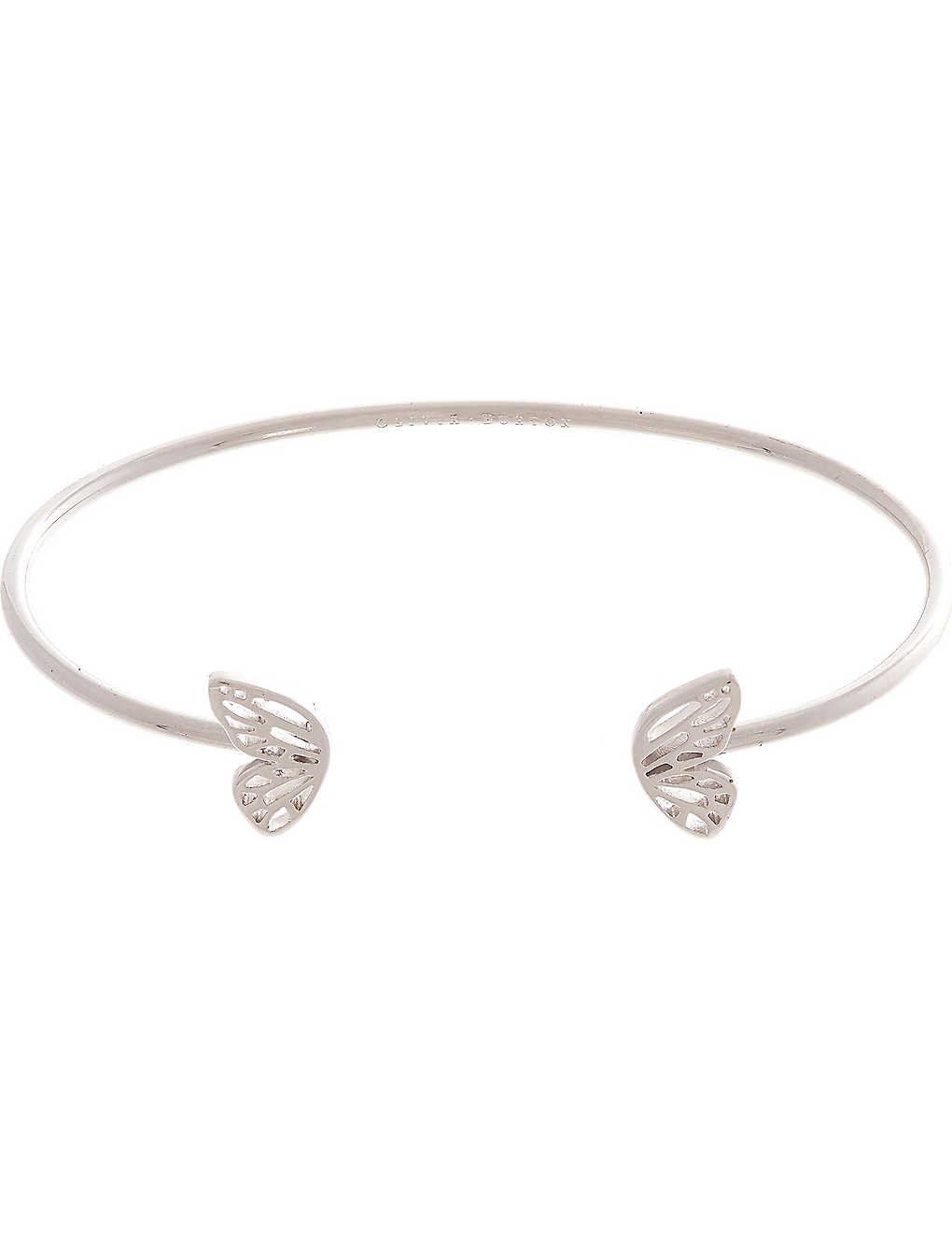 e3a02d3651144 OLIVIA BURTON - Butterfly Wing sterling silver open ended bangle ...