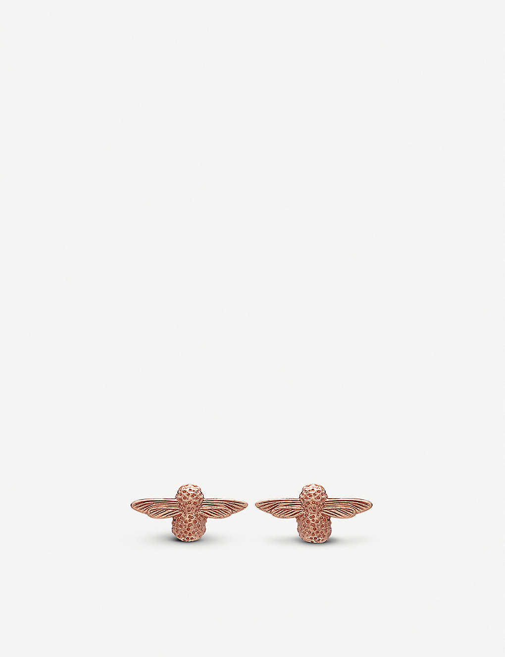 a90997ceb5be3 3D Bee 18ct rose-gold stud earrings