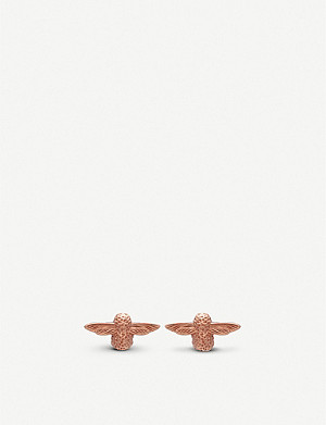 OLIVIA BURTON 3D Bee 18ct rose-gold stud earrings
