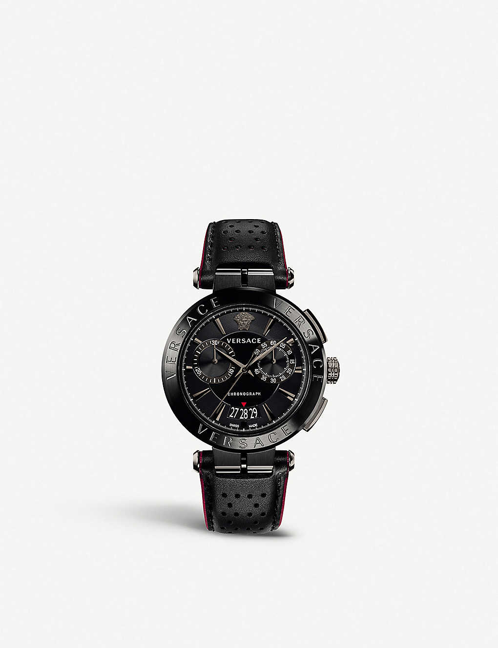 dedf01676 VERSACE - VBR030017 V-Racer coated stainless steel and leather ...