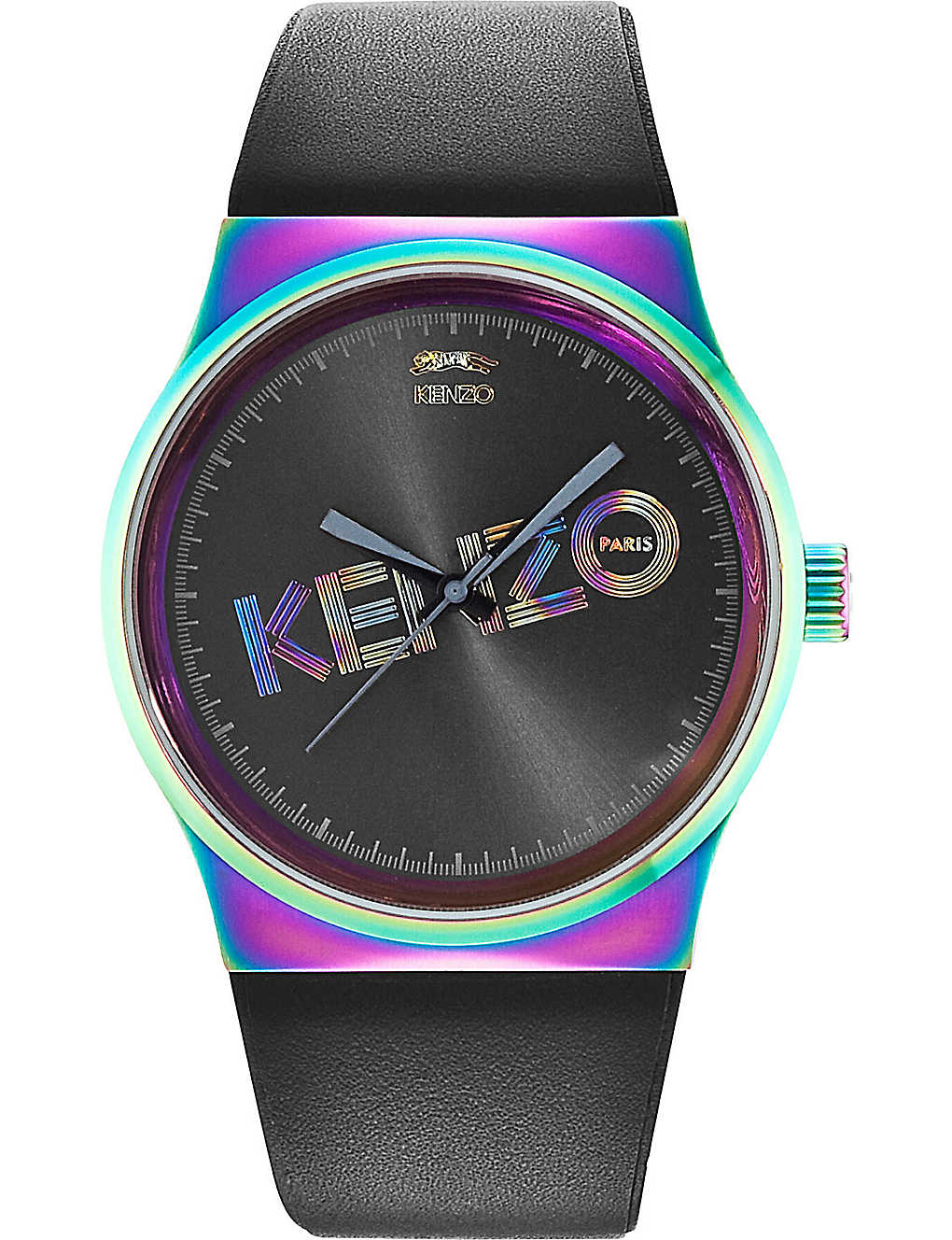 4c0ee92d KENZO - 9600322 Unisex stainless steel and leather tiger watch ...