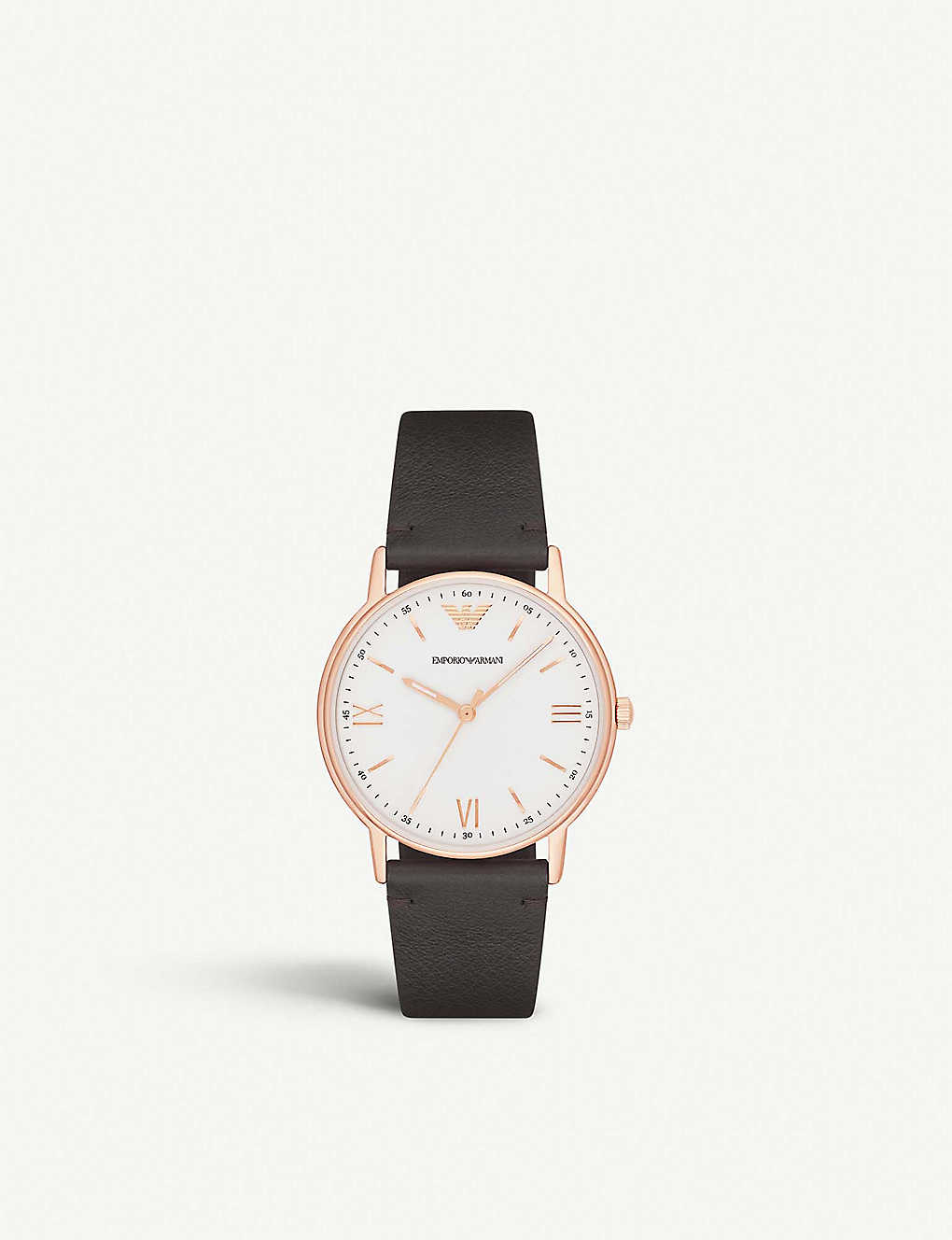2fbc0791e EMPORIO ARMANI - AR11011 rose-gold plated stainless steel watch ...