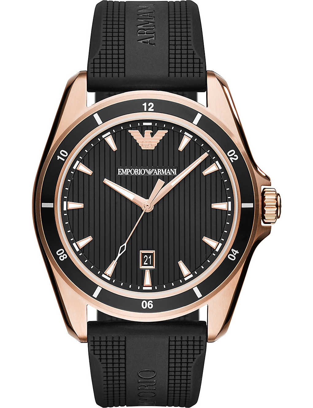 f938e26b607b1 EMPORIO ARMANI - AR11101 Sigma rose gold-plated stainless steel ...