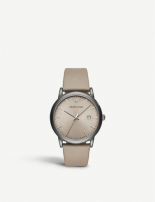 MICHAEL KORS AR11116 stainless steel and leather watch