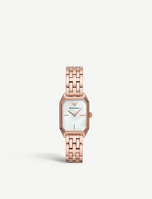 EMPORIO ARMANI AR11147 Gioia rose gold-plated and mother-of-pearl watch