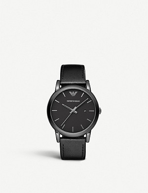 EMPORIO ARMANI AR1732 black ion-plated steel watch
