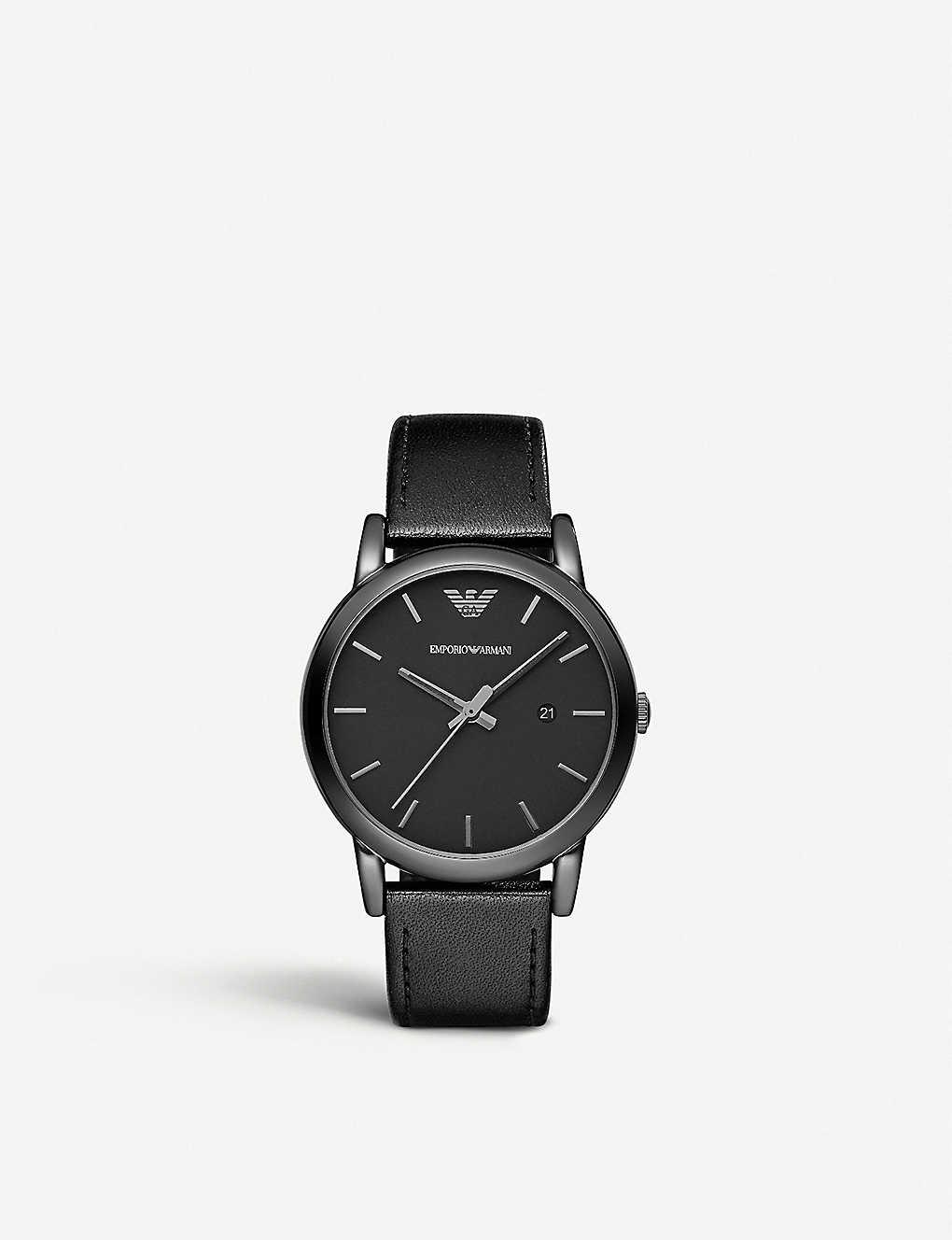 ac4ee7b9 AR1732 black ion-plated steel watch