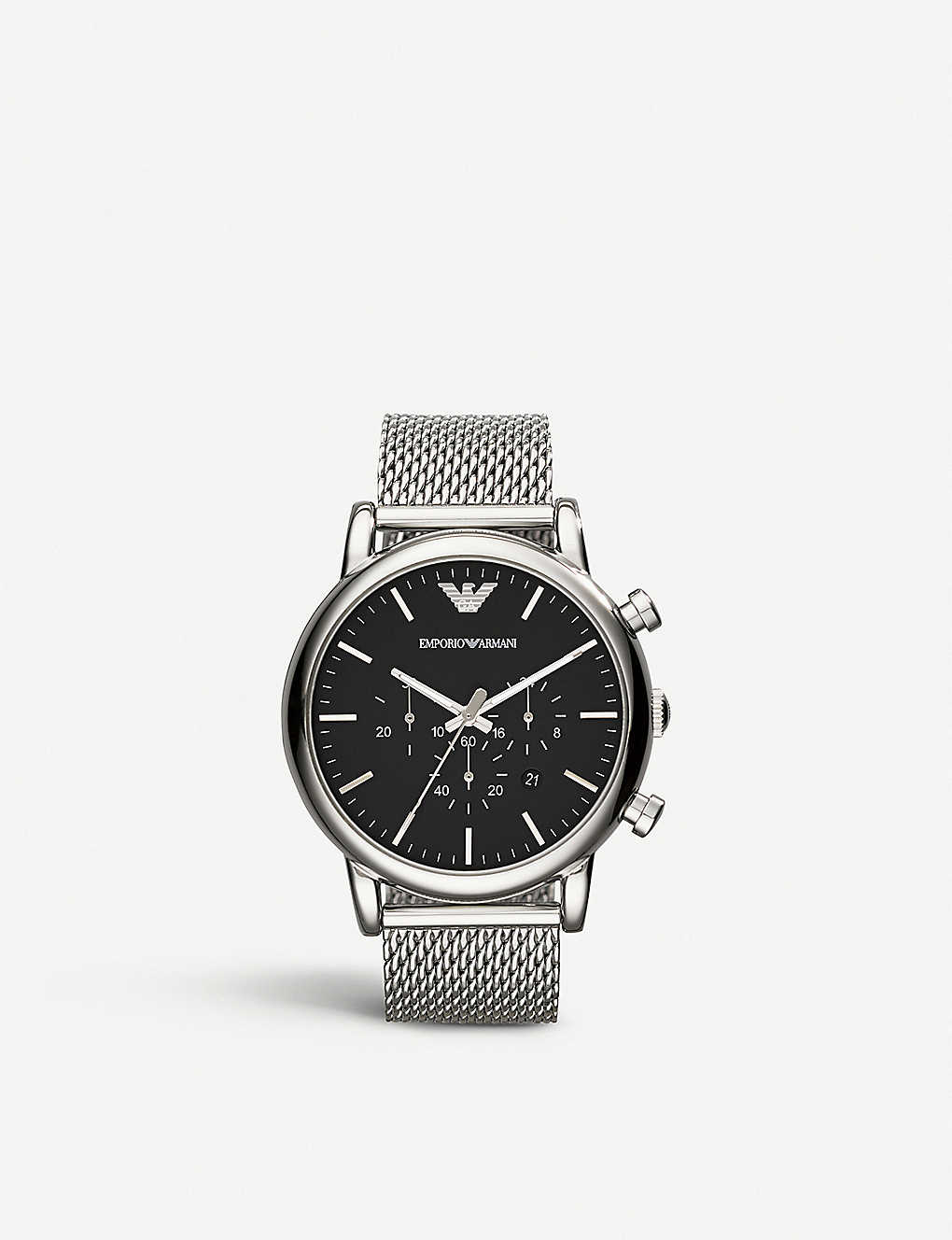 8579f9fb3 EMPORIO ARMANI - ar1808 stainless steel chronograph watch ...
