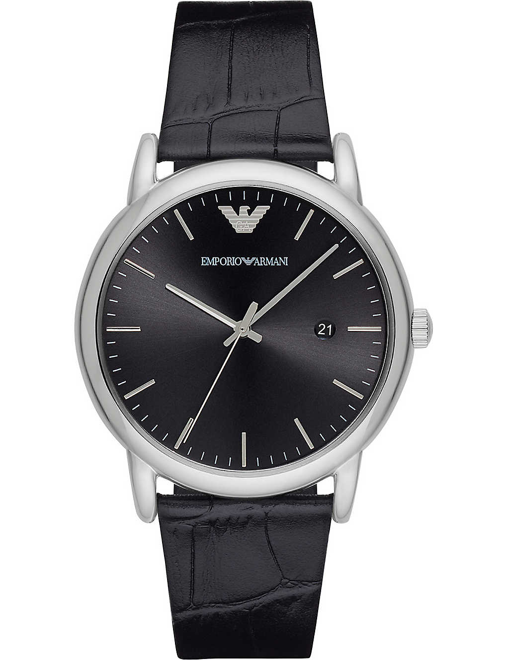 7ecfc5b4 AR2500 stainless steel and leather watch