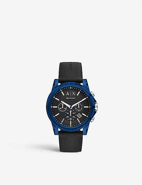ARMANI EXCHANGE AX1339 Active acrylic and silicone chronograph watch