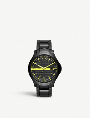 ARMANI EXCHANGE AX2407 Smart black ion-plated steel watch