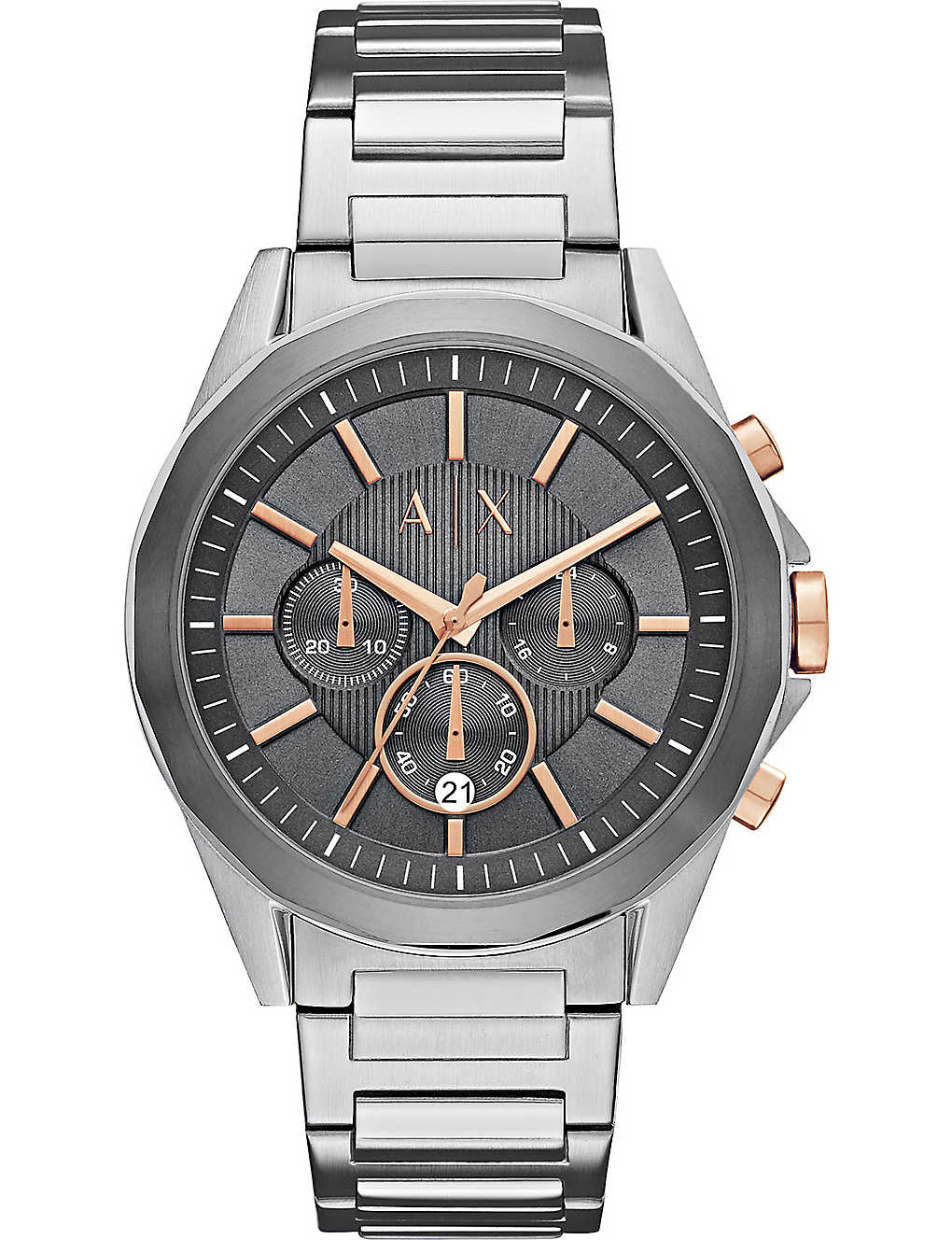 ARMANI EXCHANGE: AX2606 stainless steel chronograph watch