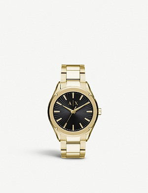 ARMANI EXCHANGE AX2801 Fitz yellow gold-plated stainless steel watch