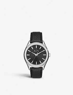 ARMANI EXCHANGE AX2803 Fitz stainless steel and leather watch