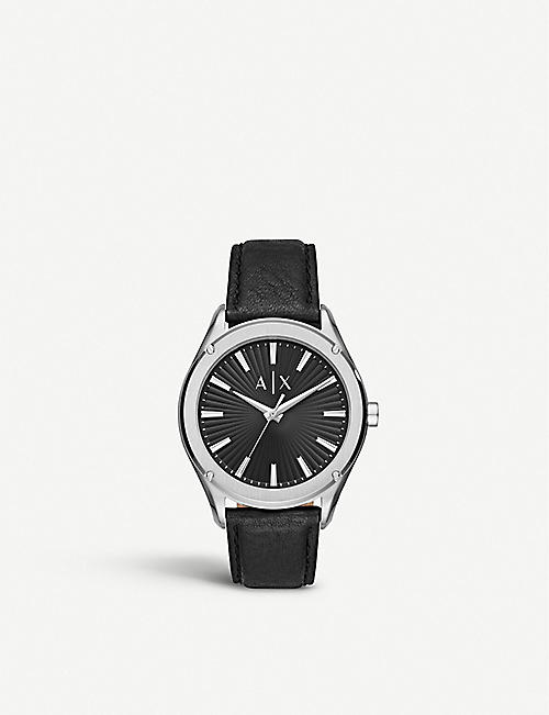 ARMANI EXCHANGE: AX2803 Fitz stainless steel and leather watch