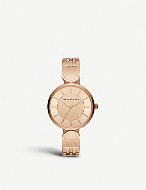 ARMANI EXCHANGE AX5328 PVD rose gold-plated watch