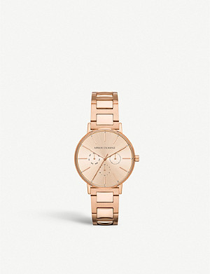 ARMANI EXCHANGE AX5551 rose-gold plated stainless steel watch