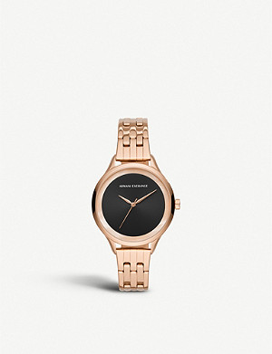 ARMANI EXCHANGE AX5606 Smart rose-gold plated stainless steel watch