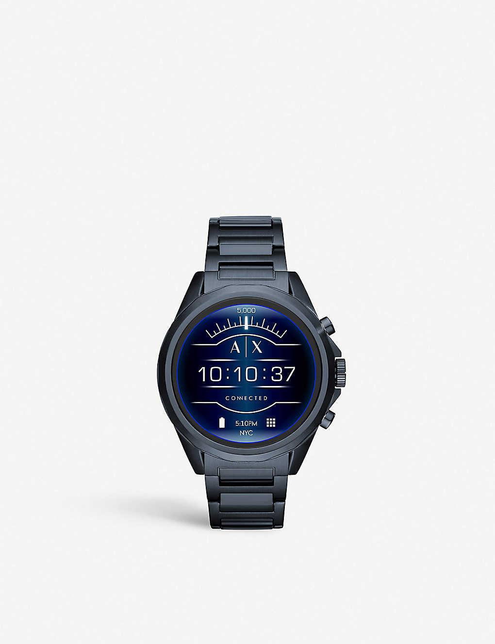 34aebfc8b ARMANI EXCHANGE - AXT2003 coated stainless steel smartwatch ...