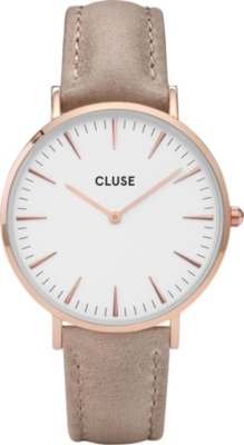CLUSE CL18031 La Bohème stainless steel and leather watch