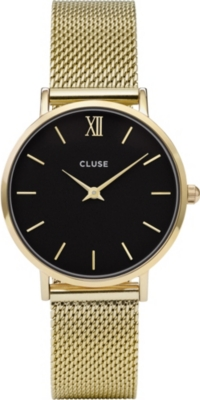 CLUSE CL30012 Minuit stainless steel gold mesh watch