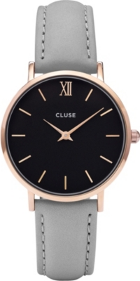 CLUSE CL30018 Minuit leather watch